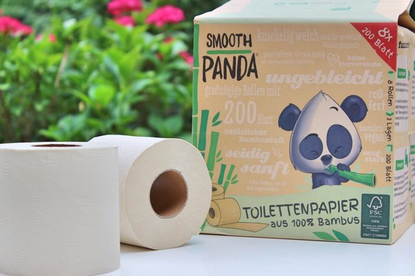 "Bambus Toilettenpapier ""Smooth Panda"" 8er Pack"
